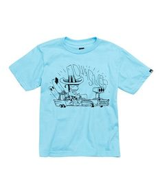 Quiksilver Light Blue 'Quicksilver' Low Riding Tee - Toddler & Boys by Quiksilver #zulily #zulilyfinds