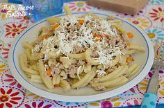 Pasta con carne macinata e ricotta salata