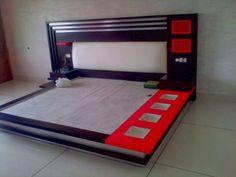 Red Bedroom Design, Beautiful Bedroom Designs, Bedroom Cupboard Designs, Bedroom False Ceiling Design, Bedroom Closet Design, Bedroom Furniture Design, Interior Design, Modern Furniture, Bed Design Images