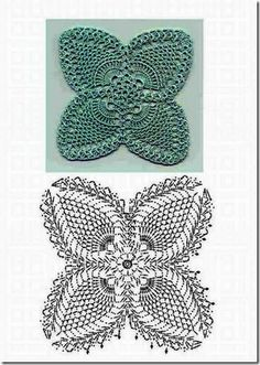 Pineapple crochet square chart pattern