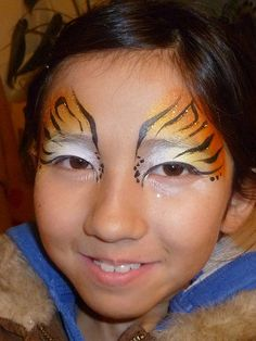 Tiger Striped Eyes  *I did this for VIolet's Halloween costume.  She loved it!* ...