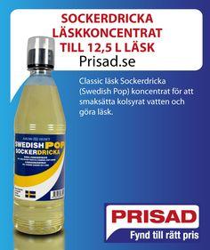 Classic läsk Sockerdricka (Swedish Pop) koncentrat för att smaksätta kolsyrat vatten och göra läsk.