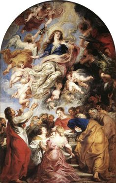 The Assumption of the Virgin Mary or Assumption of the Holy Virgin, is a painting by Peter Paul Rubens, completed in 1626 as an altarpiece for the high altar of the Cathedral of Our Lady, Antwerp, where it remains. Peter Paul Rubens, National Gallery Of Art, Catholic Art, Religious Art, Catholic Online, Roman Catholic, Saint François Xavier, Pedro Pablo Rubens, Virgin Mary Painting