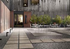 Exterior Design. Full-body porcelain concrete effect ;  outdoor flooring. Padexpo. Patio #Exterior #Design #Miami