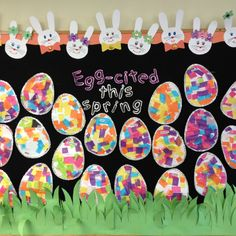 My Easter bulletin board