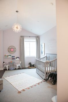 Take a tour of this gorgeous pink and gray celebrity nursery!
