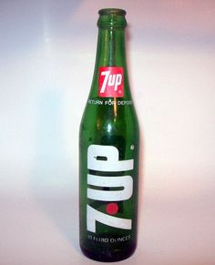 7-Up in a glass bottle.