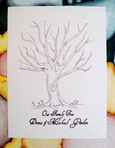 Fingerprint tree for the baby shower guest book!