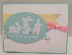 Ears to you! PPA155 Whip up a Cute but Quick Easter Card full directions at StampinMary.com