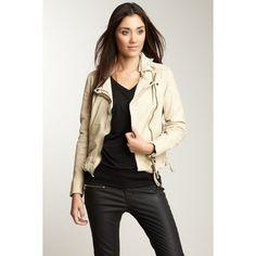 Muubaa Aydene Biker Jacket (305 CAD) ❤ liked on Polyvore featuring outerwear, jackets, muubaa, moto zip jacket, moto jacket, biker jacket and motorcycle jacket