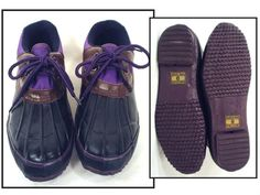PURPLE and BLACK vintage 80's laceup duck by RockyMountainRetro, $45.00