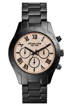 MICHAEL Michael Kors Michael Kors 'Layton' Chronograph Bracelet Watch, 44mm (Nordstrom Exclusive) available at #Nordstrom