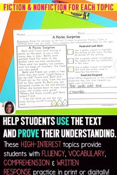 Over 170 reading passages for the ENTIRE year! NOW DIGITAL! This reading comprehension bundle pack includes all four of my seasonal Text Based Evidence Reading Passages in one discounted bundle! Your students will tackle close reading skills, comprehension, fluency, vocabulary skills, and written response skills...all within ONE reading passage! Fluency Activities, Vocabulary Activities, Small Group Reading, Close Reading, Third Grade Reading, Student Reading, Reading Strategies, Reading Skills, Reading Passages