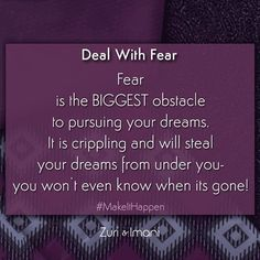 """#Fear makes you tell yourself that you'll go after your dreams when you have acquired more skills, or more money, or more time, but the truth is, that will never happen. Only when you can finally move on from your fears and recognize how it is holding you back, then can you begin to move forward. Ask yourself this question- """"What Would You Attempt to Do If You Knew You Could Not Fail?"""" So what are you waiting for? Take that first step… #zuriandimani #startupjourney #makeithappen #startup…"""