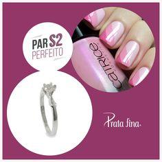 #Parperfeito: delicadeza e amor resumidos em uma combinação.  Anel Solitário: http://pol.vu/yq