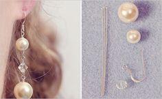 DIY, Do It Yourself, Drop Pin Earrings, Earrings, Pearl, Jewelry, Make
