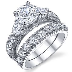 bonndorf laboratories sterling silver round cubic zirconia 925 engagement bridal rings set rings walmart - Wedding Rings From Walmart