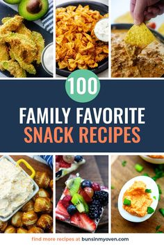 Who doesn't love a good snack? Whether it is between meals or a midnight craving, this list has over a hundred quick and easy snack recipes! Appetizer Recipes, Snack Recipes, Appetizers, Cooking Recipes, Party Snacks, Yummy Snacks, Food To Make, Breakfast, Ethnic Recipes