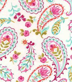 Snuggle Flannel Fabric-Madison Paisley