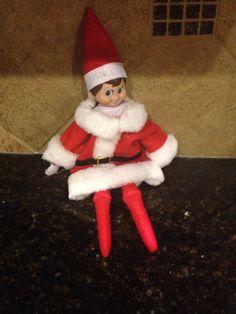 Cosmo's Santa suit.
