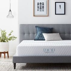 LUCID Comfort Collection SureCool Queen Memory Foam Mattress at Lowe's. The LUCID® Medium Memory Foam Mattress is a great option for anybody looking for the perfect blend of plush and support. The medium gel Queen Memory Foam Mattress, Queen Mattress, Queen Beds, Kids Mattress, Bedroom Furniture Stores, Furniture Sale, Platform Bed, California King, Have Time
