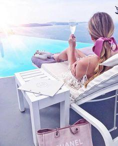 "187 Likes, 4 Comments - 💗 MIAU SWIMWEAR 💗 (@miauswimwear) on Instagram: ""In Santorini every hour is champagne hour 🍷 @theblondmacaron"""