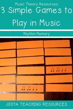 Try this simple fun game of rhythm memory with your middle school or general music classes. the games can be used for fun, as part of a center or even as Music Activities, Music Games, Rhythm Games, Music Music, Drum Music, Music Theory Games, Piano Games, Leadership Activities, Kids Music