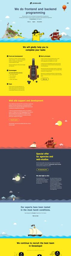 Piratecode (More web design inspiration at topdesigninspiration.com) #design #web #webdesign #sitedesign #responsive #ux #ui