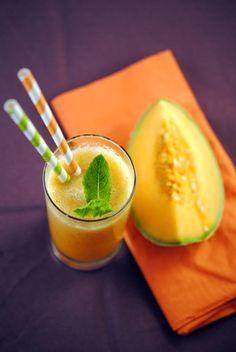 Gaspacho au melon et à la menthe
