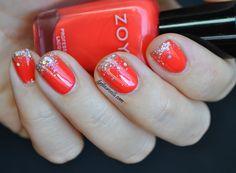 Zoya Rocha and Bar glitter gradient