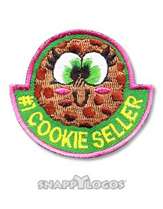 #1 Cookie Seller Girl Scout Fun Patches, Daisy Girl Scouts, Brownie Girl Scouts, Cool Patches, Cookies, Crack Crackers, Biscuits, Cookie Recipes, Cake