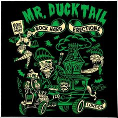 Mr Ducktail T-shirt design by Vince Ray