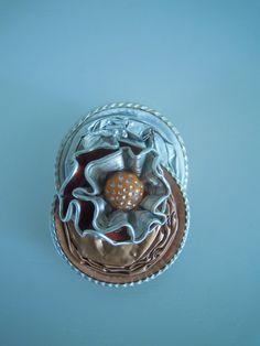 broche capsule de café nespresso orange : Broche par bijbox