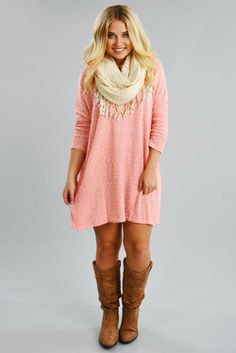 Share to save 10% on  your order instantly!  Falling For Fall Tunic: Baby Pink