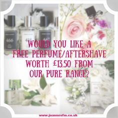 Do you know 5 people whether family friends work colleagues or neighbours etc that you could get orders from for perfume or aftershave?  (All payments made prior to order. Cash or paypal accepted)  If you can do this you will receive a free bottle of your choice from our pure range worth 13.50.  If you would like more information on this please message me or comment below - http://ift.tt/1HQJd81