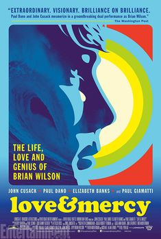 Movie poster for the Brian Wilson biopic, Love & Mercy. I dig the retro style!