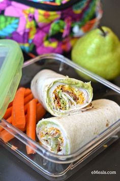 Turkey- Bacon tortilla roll ups and other great Back to School Lunch Ideas