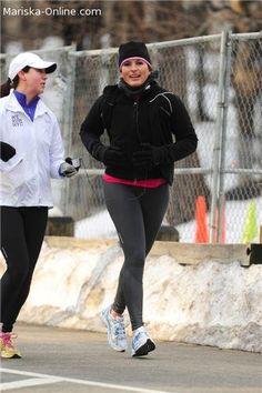 Mariska exercising