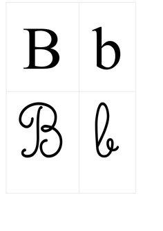 le b majuscule et minuscule - Recherche Google