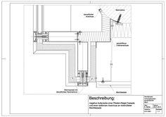 D-01-0001 negative Außenecke einer P/R-Fassade und seitlichem Anschluss