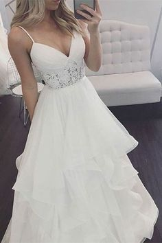 Elegant wedding dress. Disregard the groom, for now let us focus on the bride-to-be whom considers the wedding as the very best day of her lifetime. With this basic fact, then it is definite that the bridal gown should be the best. #weddingdress