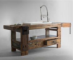 Vintage-Küchenmöbel Olmo Table von Manoteca... via Designchen