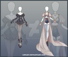 DeviantArt: More Like (CLOSED) Adoptable outfit Auction 7 by Risoluce