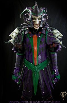 This Joker-Themed Medieval Armor Makes the Clown Prince a True Jester #cosplay #comiccon trendhunter.com