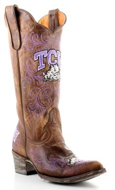 Womens Texas Christian University Boots