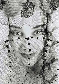 ☫ A Veiled Tale ☫ wedding, artistic and couture veil inspiration - Erwin Blumenfeld