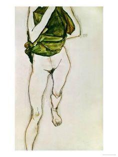 Striding Torso in Green Shirt, 1913 Giclee Print