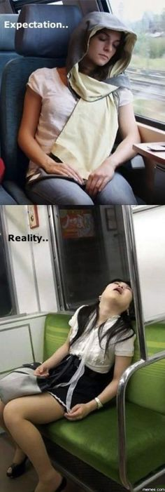 Falling asleep on public transport