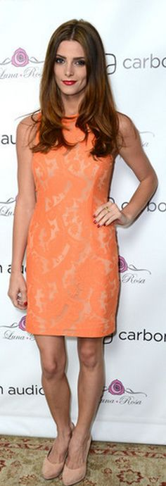 Ashley Greene: Dress - Yigal Azrouël cheaper style dress Oasis Lace Lantern Dress