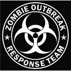 Zombie Outbreak Response Team White Die-cut Vinyl Decal Sticker,$1.60